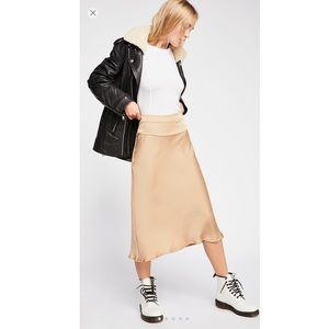 NWT Free People Normani Bias Skirt